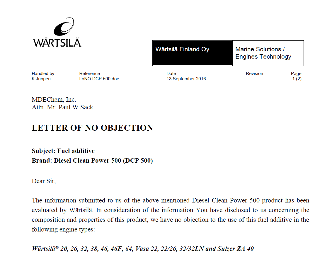 non objection letter